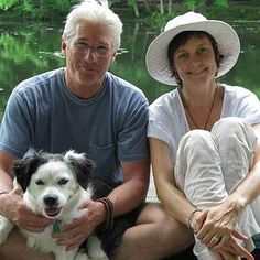 Richard Gere and wife Carey Lowell with their dog, Billie, who talked them into going to the Poodle Peace Parade.