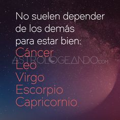 #Cáncer #Leo #Virgo #Escorpio #Capricornio #Astrología #Zodiaco #Astrologeando