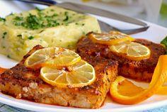 Rybí filé v citrusové marinádě Meat Recipes, Cooking Recipes, Salsa Fresca, Fish And Meat, Portuguese Recipes, Portuguese Food, Food 52, Tandoori Chicken, Mashed Potatoes