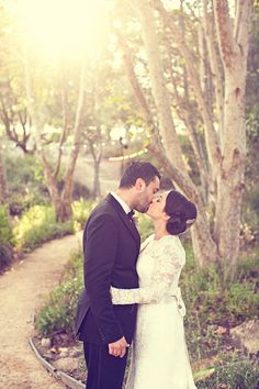 Beautiful shot of the couple at their rustic, elegant Persian Wedding - photos by Focus Photography | junebugweddings.com