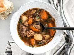 This Instant Pot Beef Stew is incredibly fast and easy, but is packed with slow-cooked flavor. Step by step photos and slow cooker instructions.