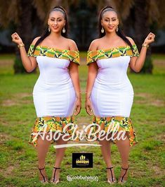 ankara stil BellaNaija Weddings presents Vol. 184 The Latest Aso Ebi Styles Short African Dresses, Latest African Fashion Dresses, Short Gowns, African Print Dresses, African Print Fashion, African Prints, Latest Aso Ebi Styles, Kente Styles, African Attire