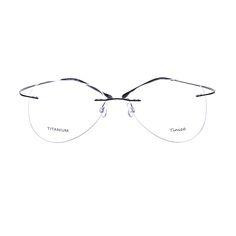 Light-weight 8 Colors Aviattor Rimless Optical Glasses Memory Titanium Eyeglasses Prescription Rx Optical Frames B607 Demo Lens