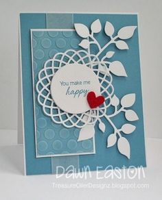 Lovely Happy Card...Embossing