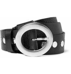Maison Martin MargielaStudded Leather Belt