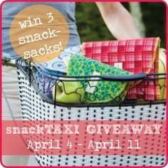 Win 3 snackTAXI Reusable Snack-Sacks (Ends April 10, 2014)