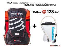 PACK de mochila Compressport Ultra Run 140g más bolsa de hidratación de la marca Hydrapak http://www.shedmarks.es/mochilas-trail-running/4165-pack-mochila-compressport-ultra-run-140g-hombre-bolsa-de-hidratacion.html