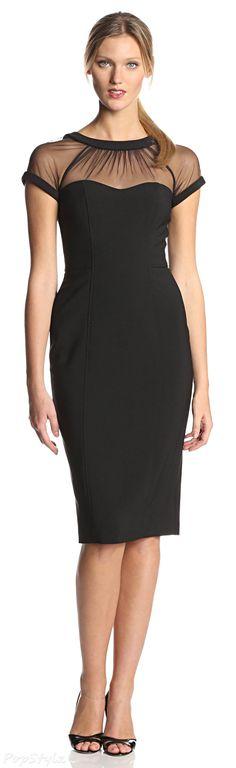 Maggy London Cap-Sleeve Crepe Dress