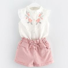 Vest Outfits, Short Outfits, Kids Outfits, Summer Outfits, Cheap Baby Clothes, Organic Baby Clothes, Clothes Sale, Cute Clothes For Kids, 2t Girl Clothes