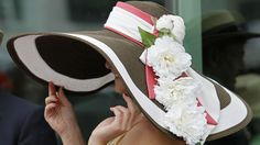 Kentucky Derby Hats -- I have it in brown  - add pink and white ribbon and a few flowers.