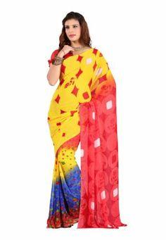 Indian Designer Wear Faux Georgette Yellow Printed Saree Fabdeal, http://www.amazon.de/dp/B00J0UZA8S/ref=cm_sw_r_pi_dp_1N6otb133T795