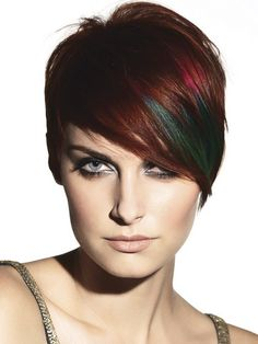 I like the auburn color with the rainbow undertones!!!