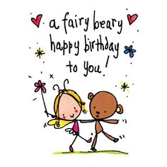 Luxury card printed on shiny x square card. Happy Birthday Fairy, Birthday Hug, Happy Birthday Wishes Quotes, Happy Birthday Wishes Cards, Happy Belated Birthday, Birthday Messages, Birthday Cards, Congrats On New Baby, Prayers For My Daughter