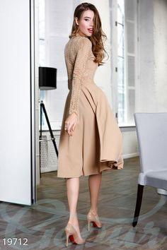 Эксклюзивное расклешенное платье