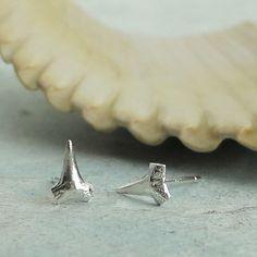Shark Teeth Stud Earrings  Lookin Sharp  in by KathrynRiechert, $24.00