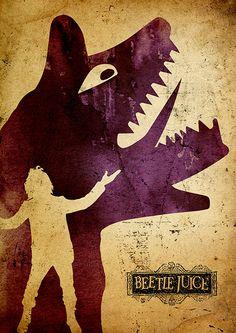 Tim Burton Beetlejuice Minimalist Poster by moonposter on Etsy