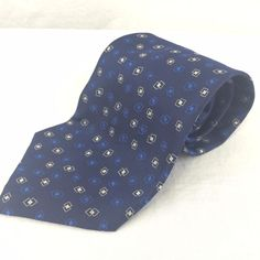 "Classic Necktie Polo by Ralph Lauren Hand Made Tie Silk Blue 4"" Wide 57"" Long #PoloRalphLauren #Tie"