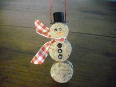 Ornement de Noël bonhomme de neige par WineCountryCrafters sur Etsy