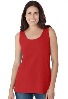 Plus Size Tank top shirt in soft stretch knit, U-neck