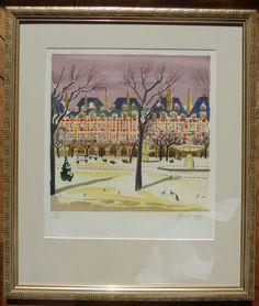 Encadrement - Yves Brayer - Place des Vosges Places, Painting, Art, Picture Frame, Art Background, Painting Art, Kunst, Paintings, Performing Arts