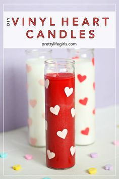 25 Valentine Heart Crafts - Heart Candles by Pretty Life Girls My Funny Valentine, Valentine History, Valentines Day Party, Valentine Day Crafts, Valentines Frames, Valentines Sale, Valentine Heart, Holiday Crafts, Holiday Ideas