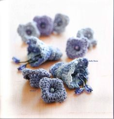 """"""" MOSSITA BELLA PATRONES Y GRÁFICOS CROCHET """": Bluebell and belle flores, Flor crochet"""