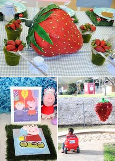 Playful & Sunny Peppa Pig Themed Birthday Party // Hostess with the Mostess® Birthday Celebration, Birthday Party Themes, 2nd Birthday, Birthday Ideas, Strawberry Moons, Crown For Kids, Pig Party, Paper Mache, Party Ideas