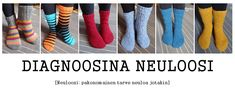 Diagnoosina neuloosi Socks, Knitting, Diy, Fashion, Sock Knitting, Dots, Tricot, Moda, Bricolage