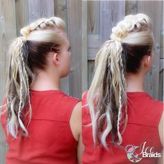 Braided fauxhawk ponytail inspired by @theconfessionsofahairstylist  Added some twists for fun