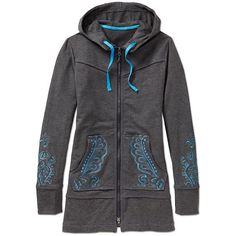Athleta | Sphinx Hoodie in charcoal heather - yes please!!! Love the length!