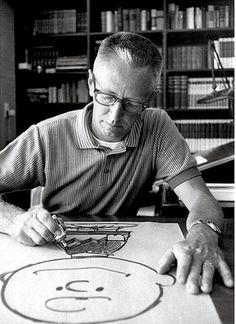 "Charles Schultz, Artist/Illustrator of ""Peanuts"" and ""Charlie Brown"" and ""Snoopy"" Die Peanuts, Peanuts Gang, Schulz Peanuts, Peanuts Movie, Peanuts Cartoon, Peanuts Characters, Cartoon Characters, Charles M. Schulz, Charles Shultz"