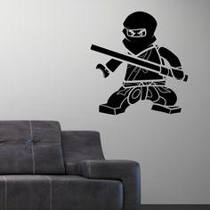 Ninjago Lego Vinly Wall Decal Sticker Cole   bombgrafx - Housewares on ArtFire