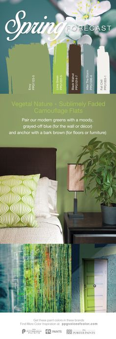 The designer-curated Spring Forecast color collection highlights modern green hues Envy and Lime Green. Pair with a moody blue paint color, like After… – Mudroom Great Room Paint Colors, Room Wall Colors, Green Paint Colors, Green Colour Palette, Paint Color Palettes, Pallet Painting, Inspiration Wall, Coordinating Colors, House Colors