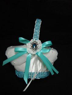 Tiffany blue flower girl basket setTiffany blue by AngelicasBridal, 0.00