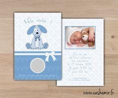 Faire-part naissance bébé original à gratter n°6 chien : Faire-part par cashemir