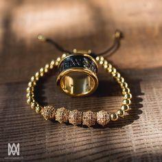 Morning Star Spike bracelet with 18k Gold #MarcosdeAndrade                                                                                                                                                                                 More