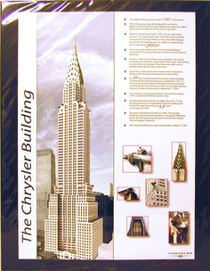 "Chrysler Building Poster  20""x15"" Design:  Ginny D"
