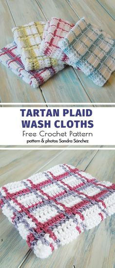 Useful Crochet Kitchen Accessories Free Patterns - Tartan Plaid Wash Cloths Free Crochet Pattern Source by - Crochet Diy, Plaid Crochet, Crochet Home, Crochet Gifts, Crochet Things, Tunisian Crochet, Knitting Patterns, Crochet Patterns, Wash Cloth Crochet Pattern