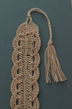 Crochet Lace Bookmark by SpindleShuttleNeedle on Etsy, $8.00