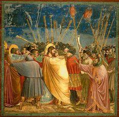 Giotto - Il bacio di Giuda - Cappella degli Scrovegni Padova