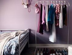 """Flexibler einrichten mit dem Garderobenständer """"Mulig"""". Ikea."""
