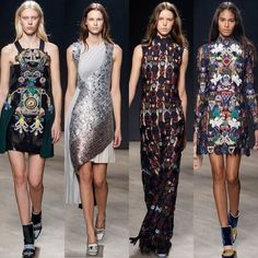 Beautiful details from Mary Katrantzou LFW
