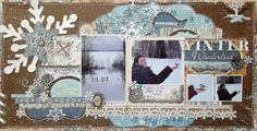 This layout is so gorgeous - gotta try it.  Credits:   Scrap-Utopia: Walking in a Winter Wonderland (My Creative Sketches #3)