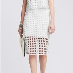 "Banana Republic pencil skirt  Dot lace. Size 0 P. Skirt length 20"".  Trade Banana Republic Skirts Pencil"