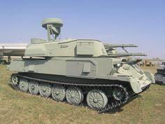ZSU-23-4 self-propelled antiaircraft gun. It is based on the GM-575 chassis. ZSU-23-4_Shilka,_Togliatti,_Russia-2.JPG (JPEG obrázek, 2592×1944 bodů)