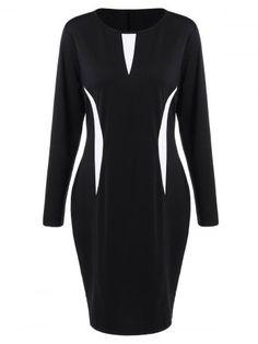 GET $50 NOW | Join RoseGal: Get YOUR $50 NOW!http://www.rosegal.com/plus-size-dresses/plus-size-color-block-long-966437.html?seid=8116265rg966437
