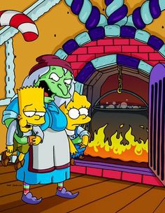 "The Simpsons hit tv show has done a few specia episodes and given each of them a title ""Treehouse of Horror I-XII"" (or so) The Simpsons had a special episode where Bart and Lisa played Hansel and Gretel and got captured by the evil witch."