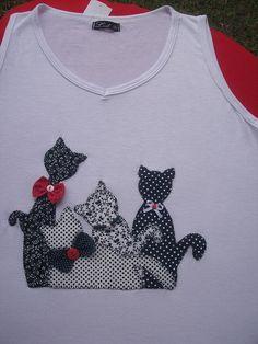 Camiseta Regata Gatos by *Sonhos e Retalhos*, via Flickr: