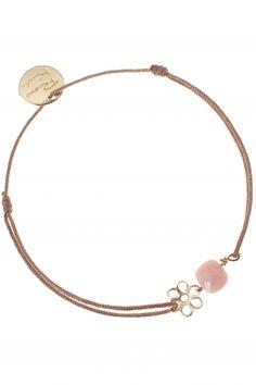 gem flower sunstone armband beige rosa altrosa blume