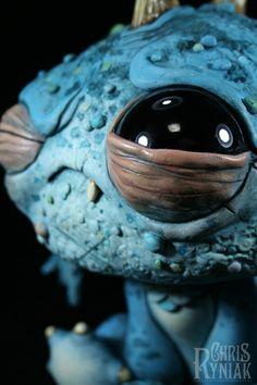 Monster (resin sculpture) by Chris Ryniak